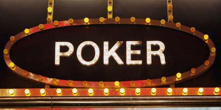 Neon light poker sign