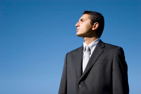 Portrait of a young successful businessman photo