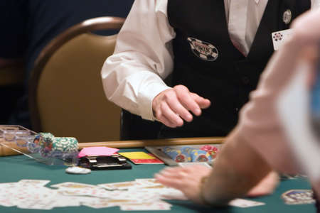 casino dealer: World Poker Tournament