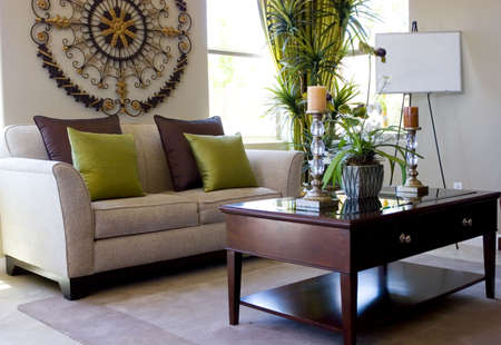 modern living room: Modern tastefully decorated living room