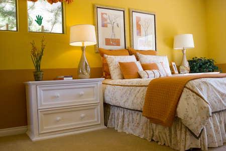 Modern tastefully decorated master bedroom Stock Photo - 2347441