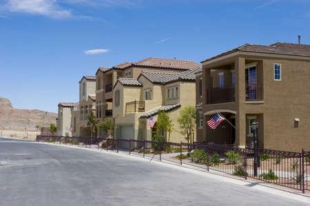 Southwestern houses in a quiet neighborhood