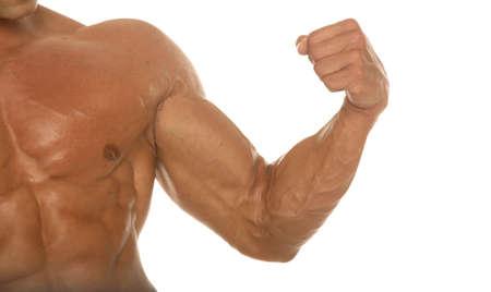 healthy body: Muscular body builder chest