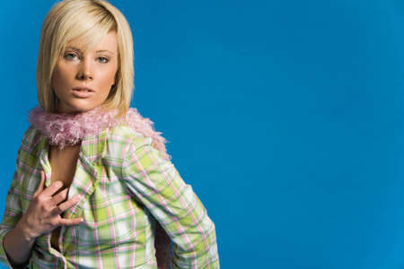Casual girl with jacket and scarf Stock Photo - 2349520