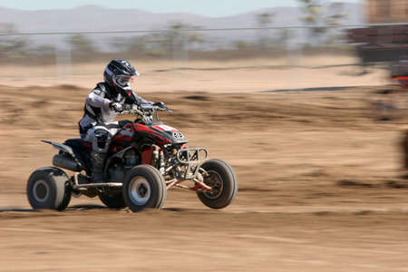 scrambling: ATV at the motocross event Stock Photo