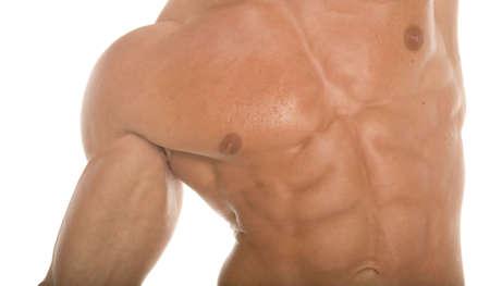 defined: Sexy sixpack abs campione di body builder