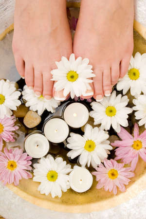 rejuvenate: Daisies, candles and pedicured feet