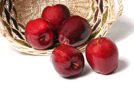 Red delicious apples in basket Stock Photo - 2733485