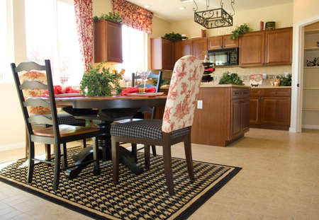 Kitchen dining table and chairs photo