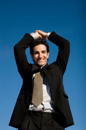 Successful businessman in suit Imagens