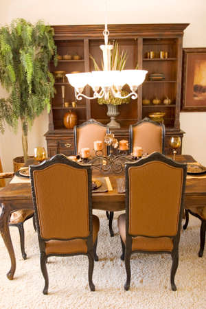 Modern tastefully decorated dining room Stock Photo - 2733567