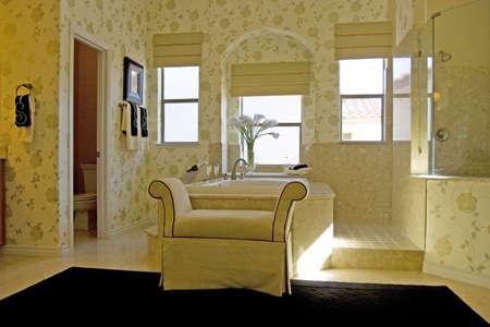 luxury bathroom: Modern bathroom in a house