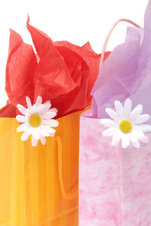 gift spending: Shopping bags isolated on white background Stock Photo