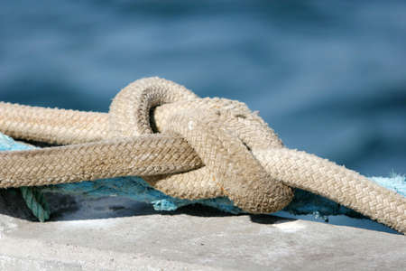 waterworks: Safety rope of a boat