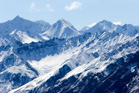 Snowy mountain tops in Alaska Stock Photo - 2988058
