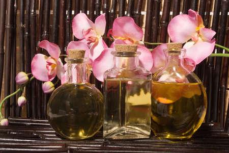 Essential body  oils in bottles for bodycare Stock Photo - 2988076