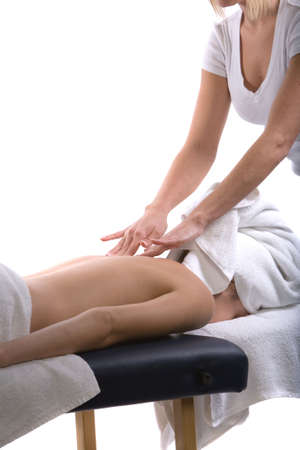 Young girl getting massage from a therapist Stock Photo - 2987924