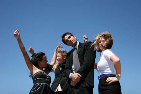 Successful business people for teamwork photo