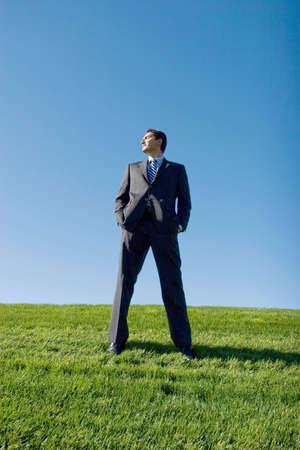 Businessman in dark suit Stock Photo - 3031099