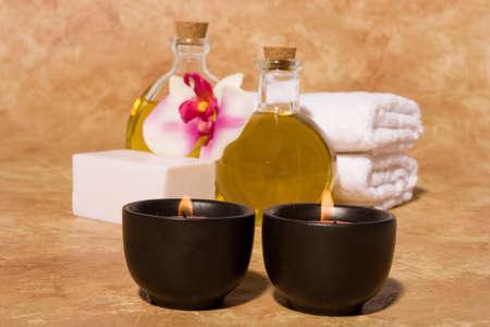 Essential body  oils in bottles for bodycare Stock Photo - 3030679