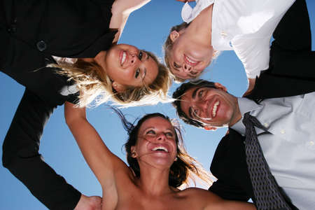 Successful business people for teamwork