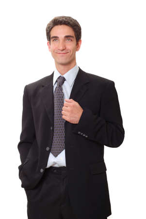 Young businessman in dark suit photo
