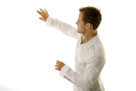 Young male giving a speech Stok Fotoğraf