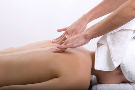 Young girl getting massage from a therapist Stock Photo - 3130110