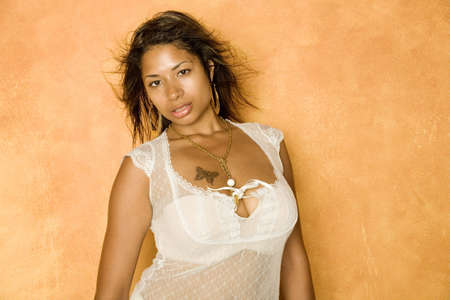 Sexy African American woman photo