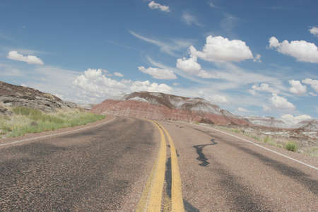 Curvy desert road Stock Photo - 3144628