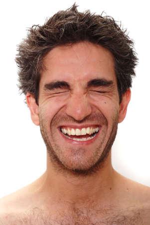 Man met blij gezicht Stockfoto - 3171674
