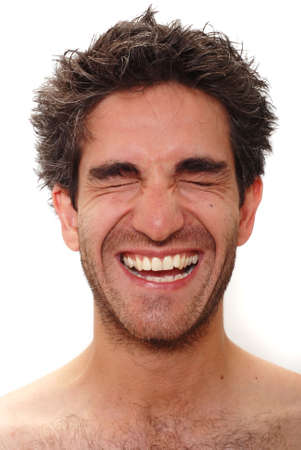 Man with happy facial expression photo