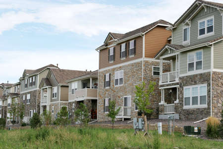 American single  houses Stock Photo - 3171292