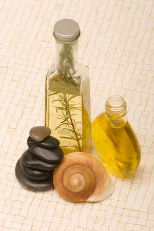 Essential oils and  stones Stock Photo - 3171028
