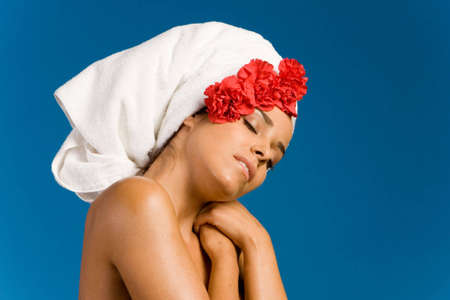 Beautiful woman in day spa Stock Photo - 3171595
