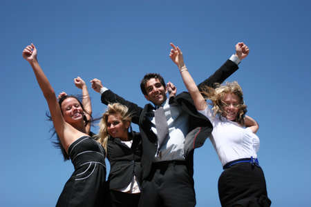 Young successful business people for teamwork photo