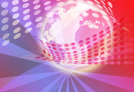 generated globe illustration background Stock Illustration - 3365156