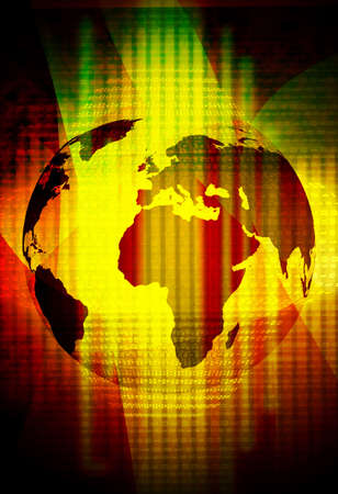 it tech: abstract technology background of the world map Stock Photo