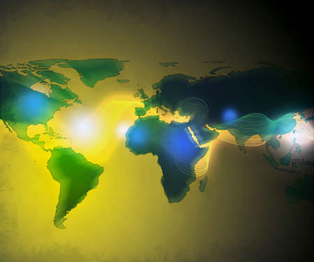 abstract technology background of the world map Stock Photo - 3365074
