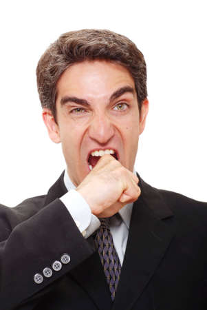Businessman with an angry expression Stock Photo - 3364961