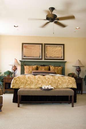 bedroom: Modern tastefully decorated bedroom Stock Photo