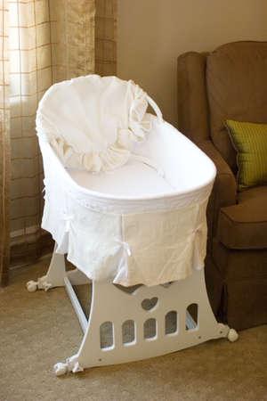 bassinet:  bassinet in the bedroom