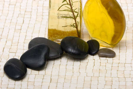 Essential oils and  stones