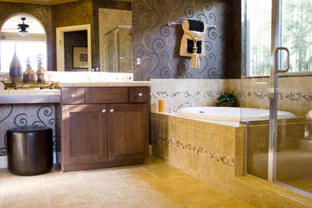 Modern bathroom in a house Stock Photo - 3364883