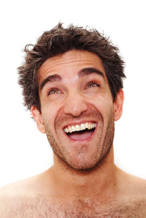 Man with happy facial expression Stock Photo - 3378007