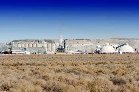 Industrial power plant in desert