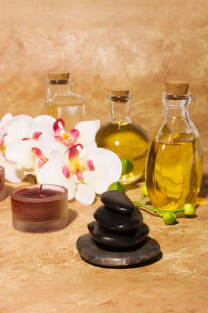 bodycare: Essential body  oils in bottles for bodycare