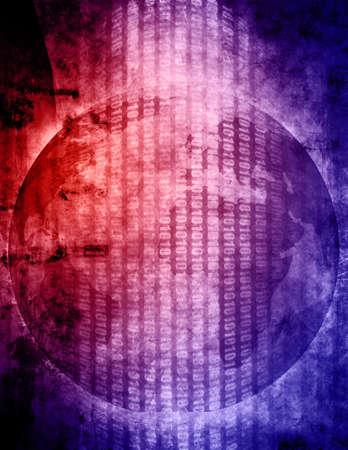 Globe and binary system background Stock Photo - 3390789