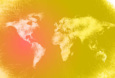 Computer generated world map illustration Stock Illustration - 3390825
