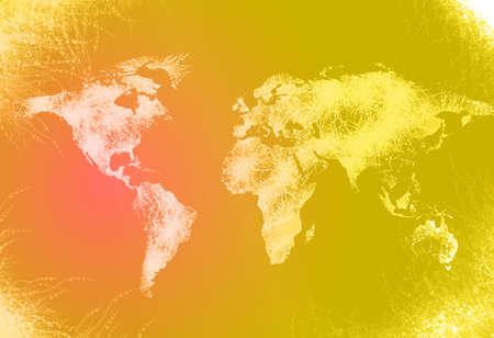 techical: Generato dal computer mappa del mondo illustrazione